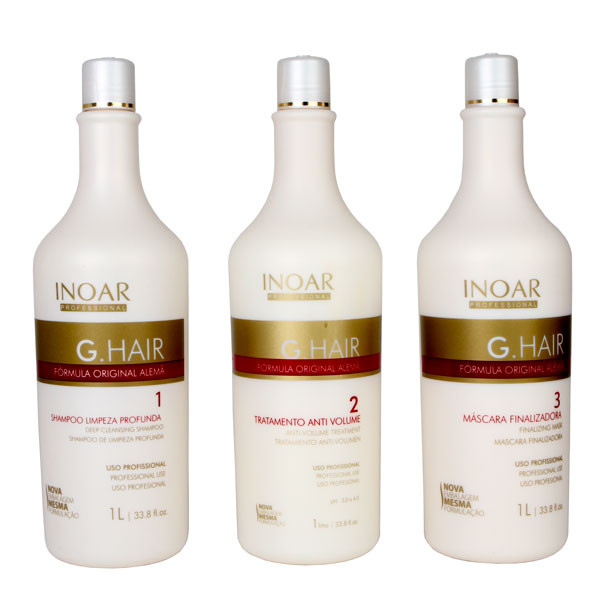 Inoar Escova Progressiva Inteligente Alemã Germany Hair - Ghair (3 x 1 litro)